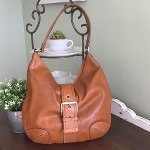Michael Kors Hutton Leather Hobo Bag